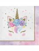 16 Tovaglioli di carta unicorno fatato