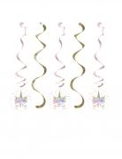 5 Sospensioni a spirale unicorno fatato