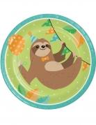 8 Piatti di carta piccolo bradipo 23cm