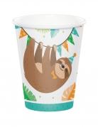 8 Bicchieri di carta piccolo bradipo