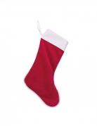 Canza natalizia in velluto rosso e cotone bianco
