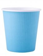 25 bicchieri in cartone color celeste