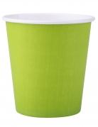 25 bicchieri in cartone color verde anice