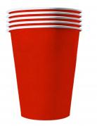 20 bicchieri in cartone riciclabile color rosso