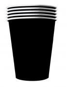 20 bicchieri in cartone riciclabile nero