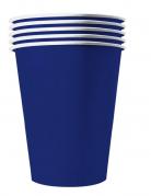 20 bicchieri in cartone riciclabile blu 25 cl