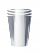 20 bicchieri in cartone riciclabile argento