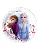 8 piatti in cartone compostabile Frozen 2™ 23 cm
