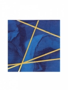 16 Tovaglioli di carta marmo blu e dorato