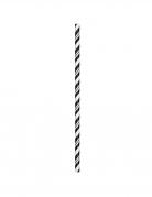 24 Cannucce in cartone flessibile nere 19,7 cm