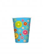 8 bicchieri in cartone margherite colorate