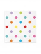20 tovaglioli di carta pois multicolor