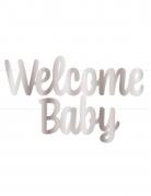 Ghirlanda Welcome baby argento