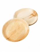 6 piatti biodegradabili effetto bambù 25 cm