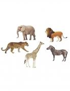 6 coriandoli per la tavola animali della savana