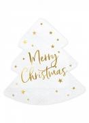 20 tovaglioli albero bianco Merry Christmas