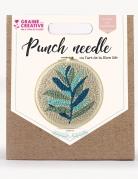 Kit cucito Punch Needle foglie verdi