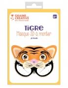 Maschera 3D da montare in cartone tigre