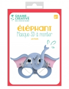Maschera 3D da montare in cartone elefante