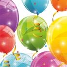 20 tovaglioli compostabili palloncini multicolor