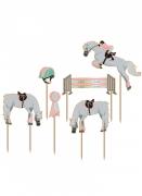 6 decorazioni per torte rosa cavallo