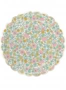 8 piatti in cartone a fiori shabby 23 cm